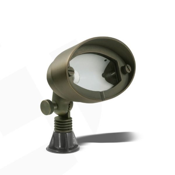 Antique-Brass-Chic-Round-LED-Spotlight